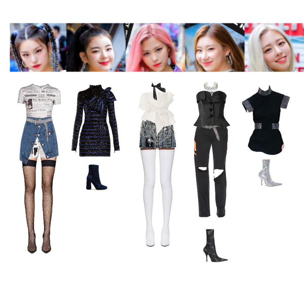 Fashion Set Itzy Icy Created Via Kpop Fashion Outfits Kpop Outfits Fashion