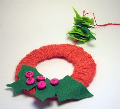 Lavoretti Di Natale Con La Lana.Lavoretti Di Natale La Ghirlanda Di Lana Creative