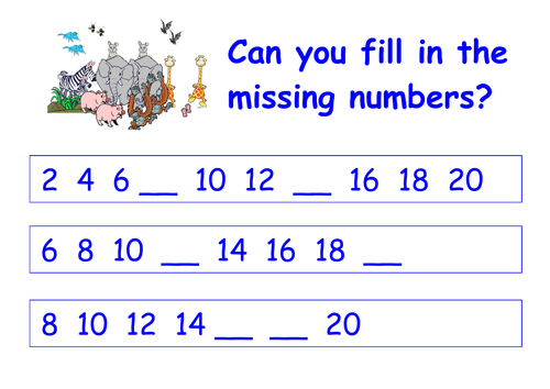 Impressive Maths Worksheets Counting In Twos On Counting by Twos ...