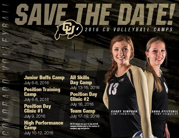 Colorado Volleyball Summer Camps Sophie Ange Volleyball University Of Colorado Summer