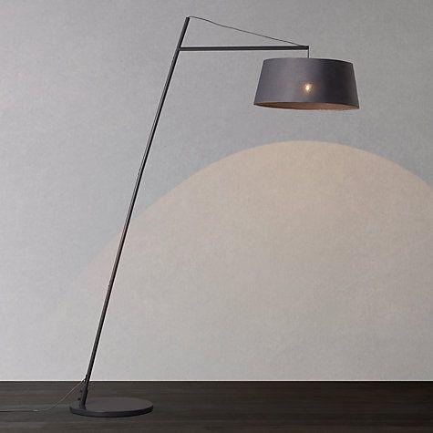 John Lewis Amp Partners Grayson Reach Floor Lamp Grey Grey