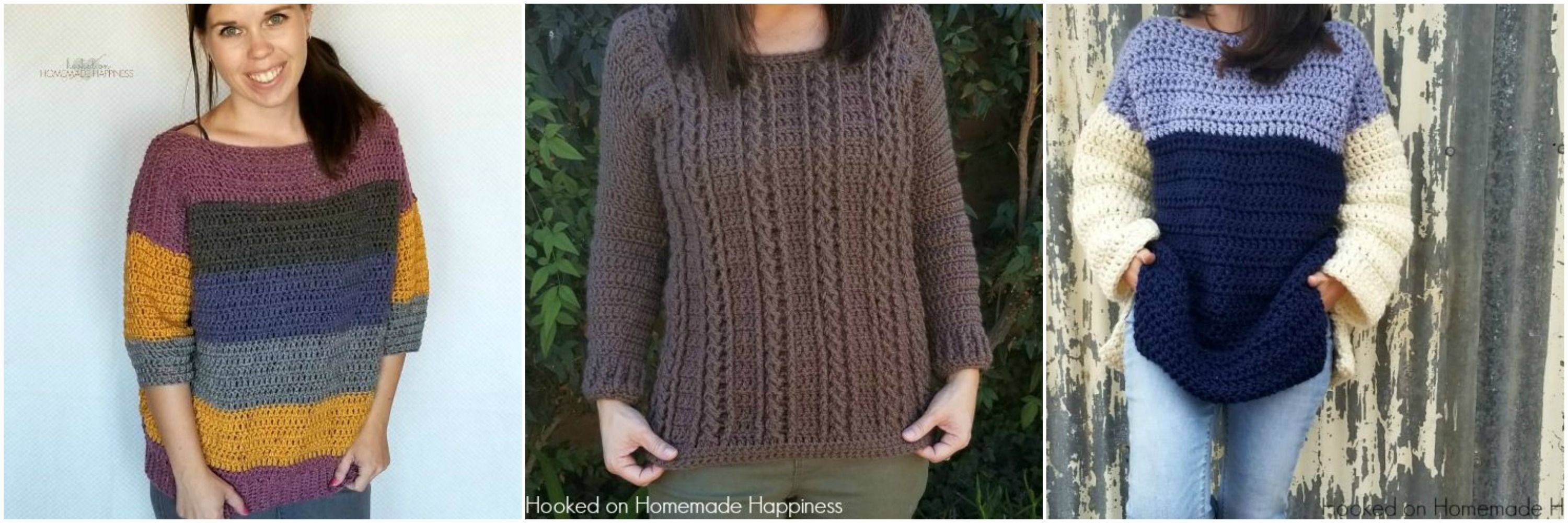 3b59dc54c Simple Crochet Sweater Pattern - Hooked on Homemade Happiness