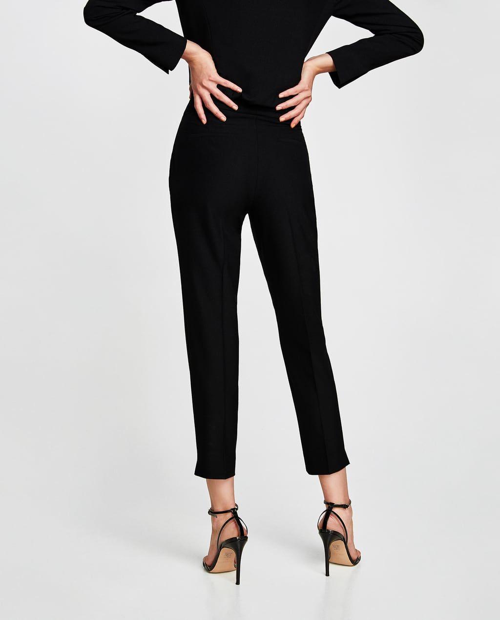Pantalon Tiro Alto Pantalones De Vestir Pantalones Mujer Zara Espana Pantalon Tiro Alto Pantalones Pantalones De Vestir