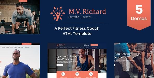 Overview MV Richard is a HTML template for heallth, sports, gym and fitness websites. It is a highly...