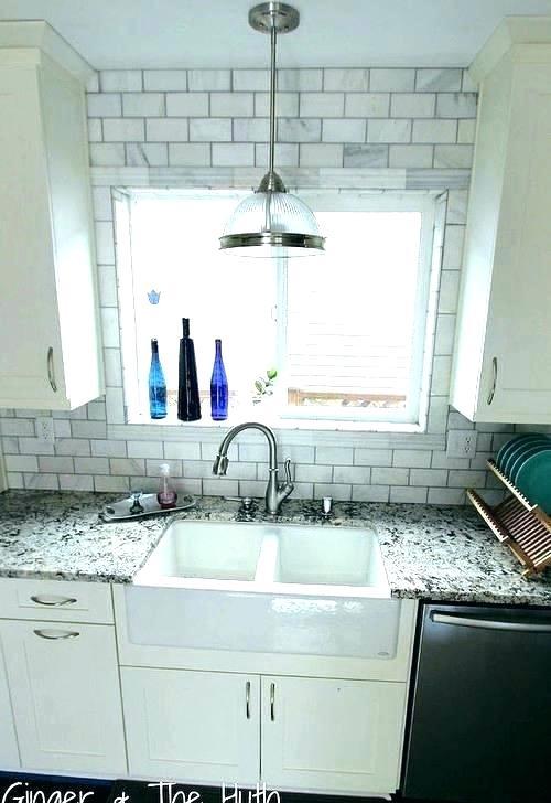Subway Tile Around Kitchen Window Google Search Tile Around Window Kitchen Window Tile Trim