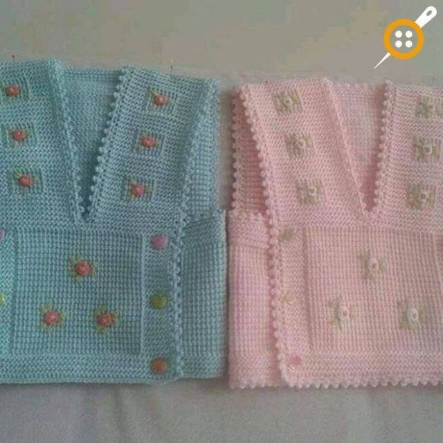 Kız Bebek Yelek Modelleri – Minik Prenseslere 40 Adet Kız Bebek Yelekleri