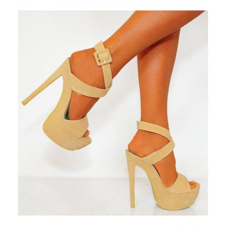 Koi Couture Ladies Nude XD3 Strappy High Heels £29.99 (FREE UK Delivery) Item in Stock | Usually dispatched within 24 hours