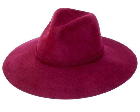 23a718791ff Women s Felt Hat Burgundy Fedora Hat Women s Fedora Hat Floppy Hat Wide  Brim Felt Hat Boho Hat Bohem