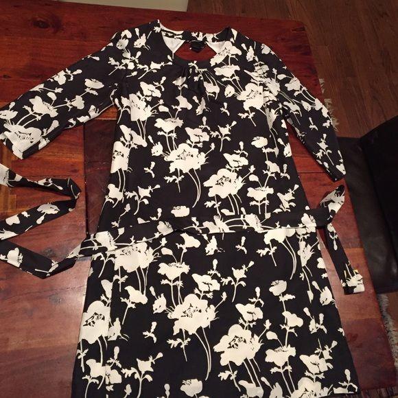 Black and white kate spade dress A line dress with 3/4 sleeves kate spade Dresses