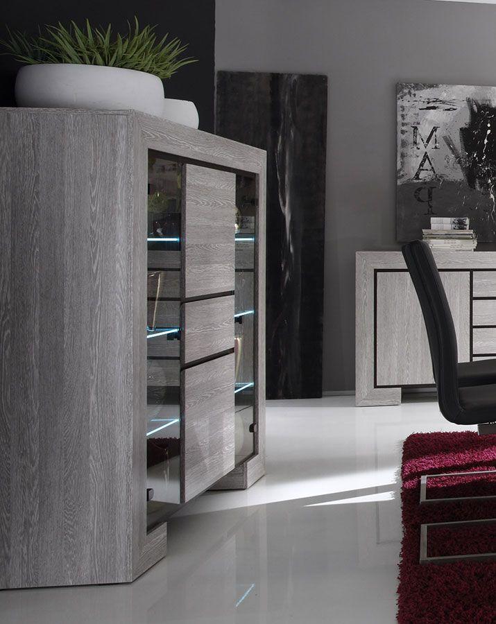 Vaisselier Couleur Bois Gris Contemporain Russ Vaisselier Design Meuble Rangement Vaisselier Moderne