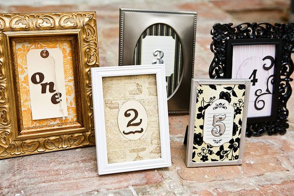 Variety of Frames Table Numbers    Photography by Dia Rao Photography / www.diarao.com, Wedding Coordination by Milly Centeno / millycenteno.com