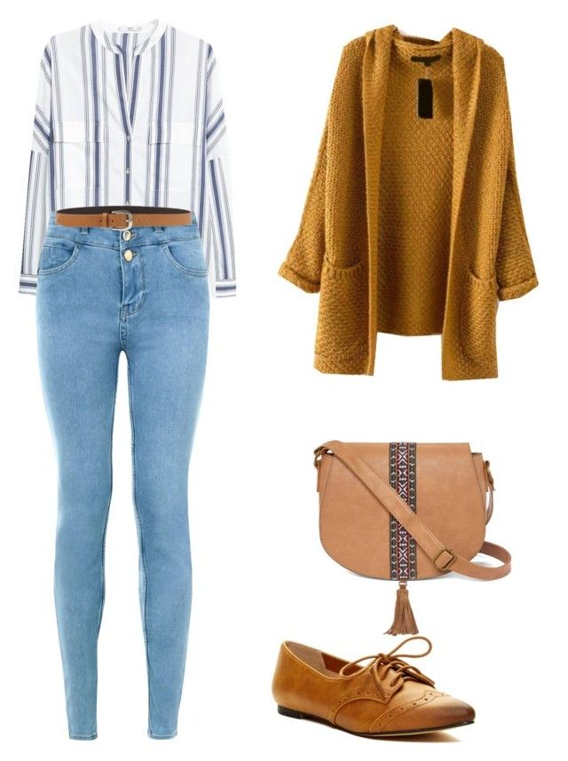 """""""Untitled #232"""" by lilix on Polyvore featuring MANGO, New Look, Restricted, Orciani and T-shirt & Jeans"""