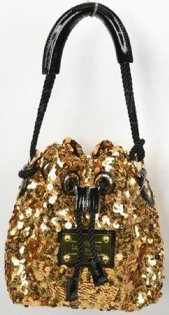 Louis Vuitton Gold Sequin Purse