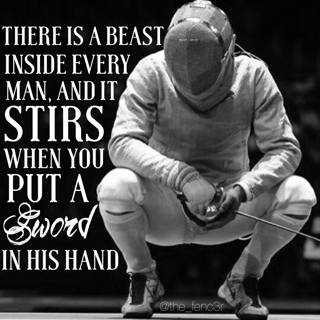 Fencing Quotes Prepossessing Follow Us On Instagram For More The_Fenc3R  击剑  Pinterest