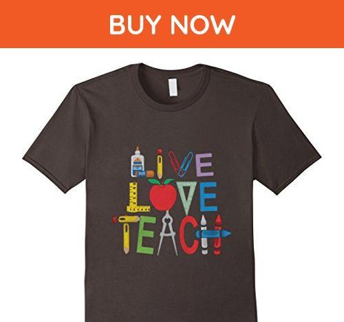 Mens TEACHER  LIVE LOVE TEACH shirt Small Asphalt - Careers - live careers