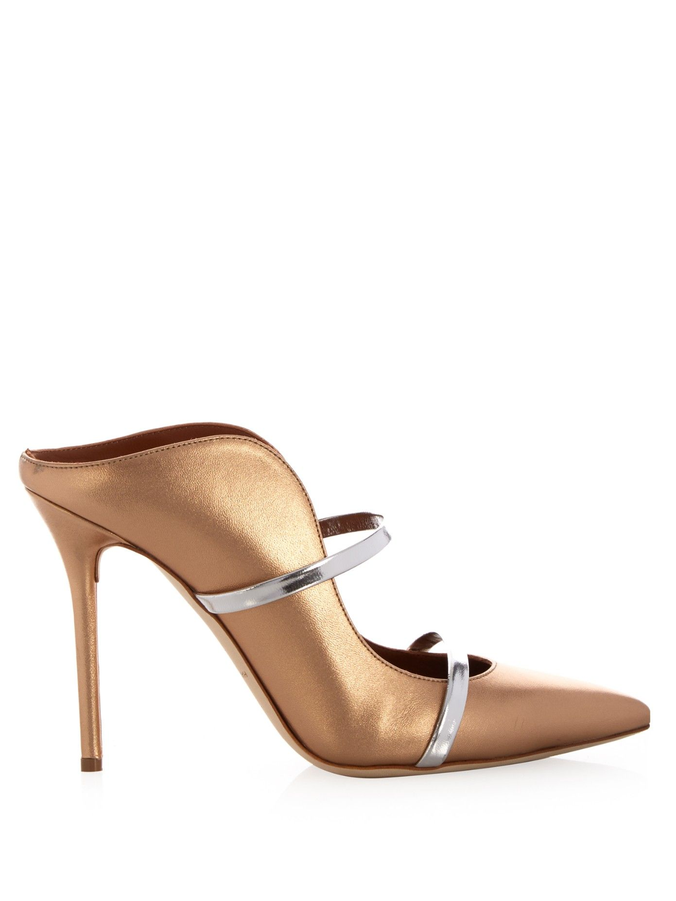 Maureen Gold Leather MulesMalone Souliers dmLlSG