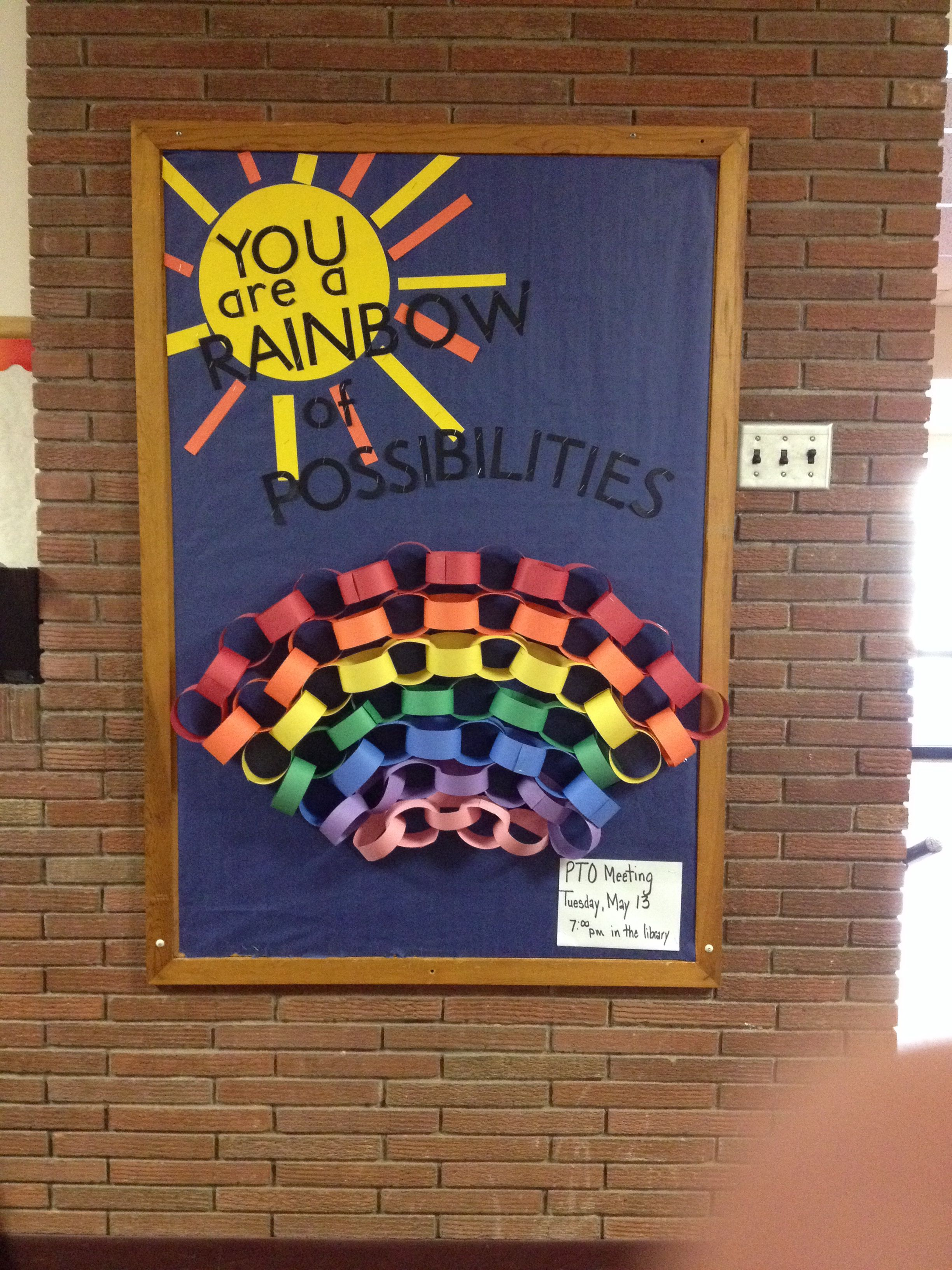 YOU are a rainbow of possibilities! LOVE THIS SAYING ...