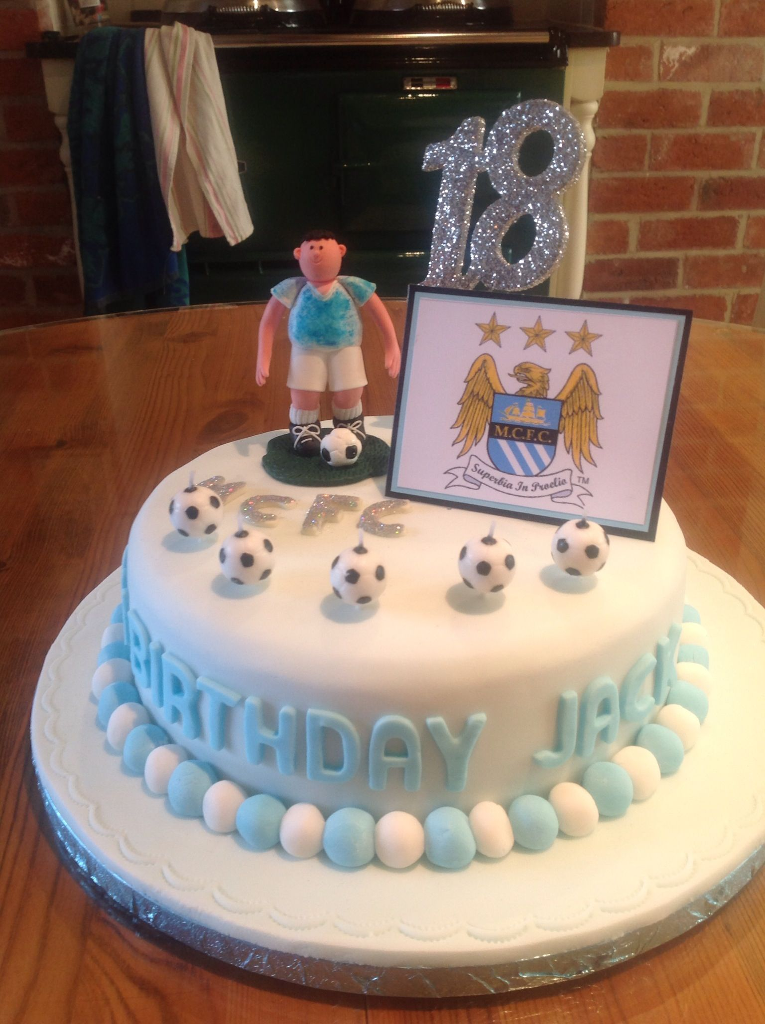 18th Birthday Cake Manchester City Kian Cake