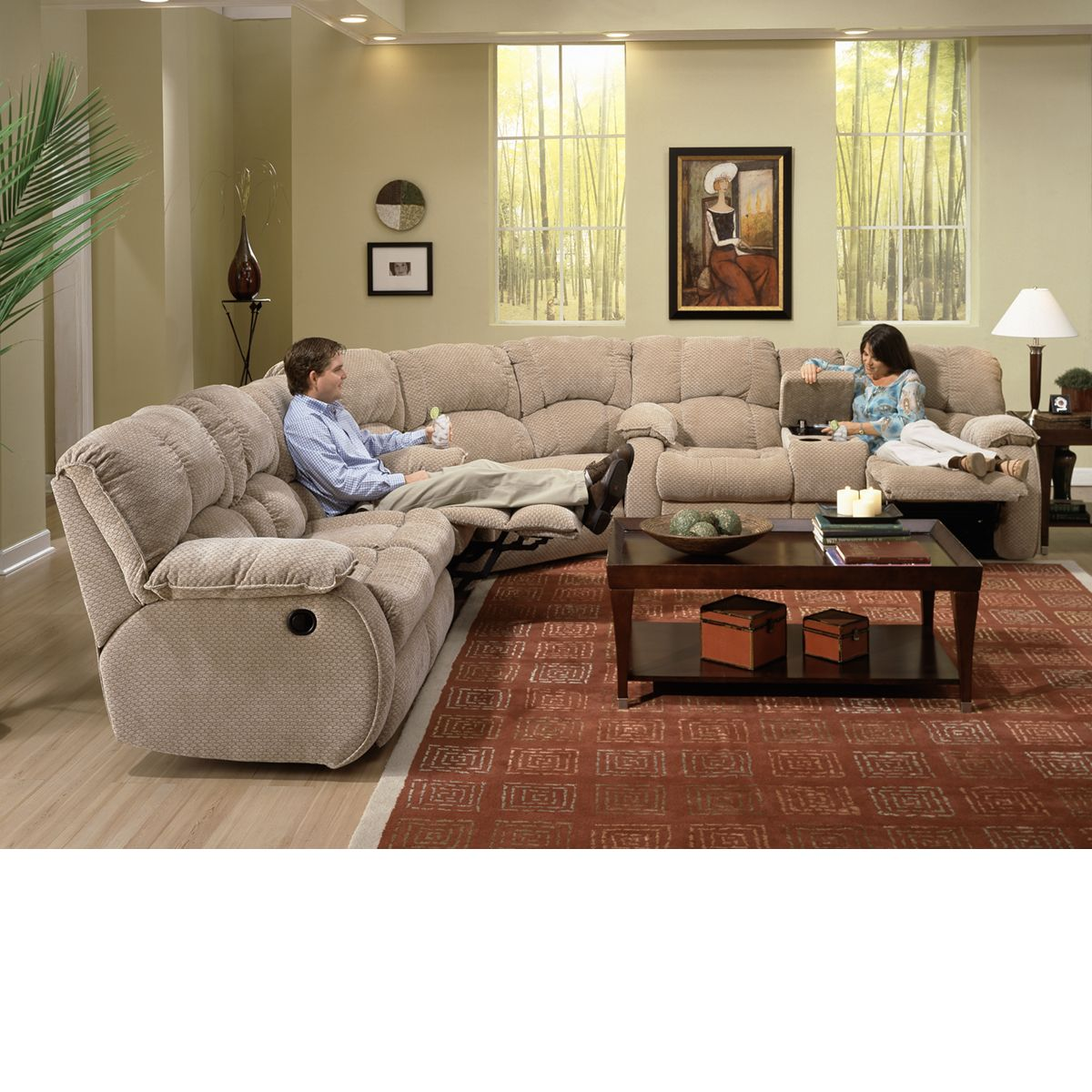 The Dump Furniture   DUAL RECLINING MICROFIBER SOFA