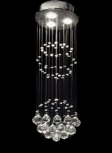 "Modern Chandelier ""Rain Drop"" Chandeliers Lighting with Crystal Balls! H31"" X W10"""