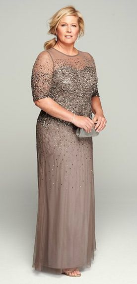 Sequined and Beaded Gowns for the Mother of the Bride | Mother of ...
