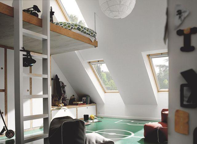Combles am nag s chambres et pi ces pour gagner de l 39 espace extensions euro et v randas for Mezzanine sous combles