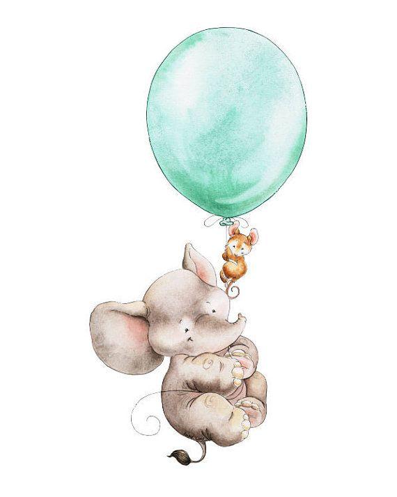 Elephant, Girl Elephant Art, Boy Elephant Art, Elephant Print, Baby Elephant, Watercolor Elephant, Nursery Decor, Watercolor Nursery #littleboyquotes