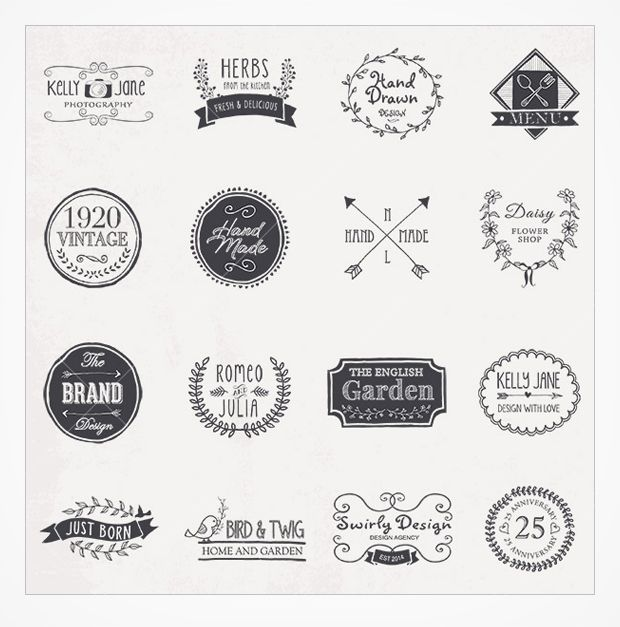 Love These Hand Drawn Vintage Logo Vectors
