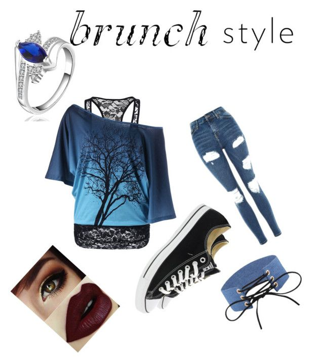 """Mothers day Blue brunch"" by the-black-dream ❤ liked on Polyvore featuring Topshop and Converse"