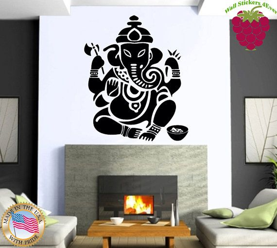 Wall Stickers Vinyl Decal India Indian God Hinduism Ig Http - Portal 2 wall decals
