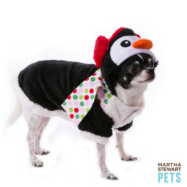 Martha Stewart Pets Penguin Holiday Costume Sweaters Coats Petsmart Martha Stewart Pets Pets Dog Hoodie