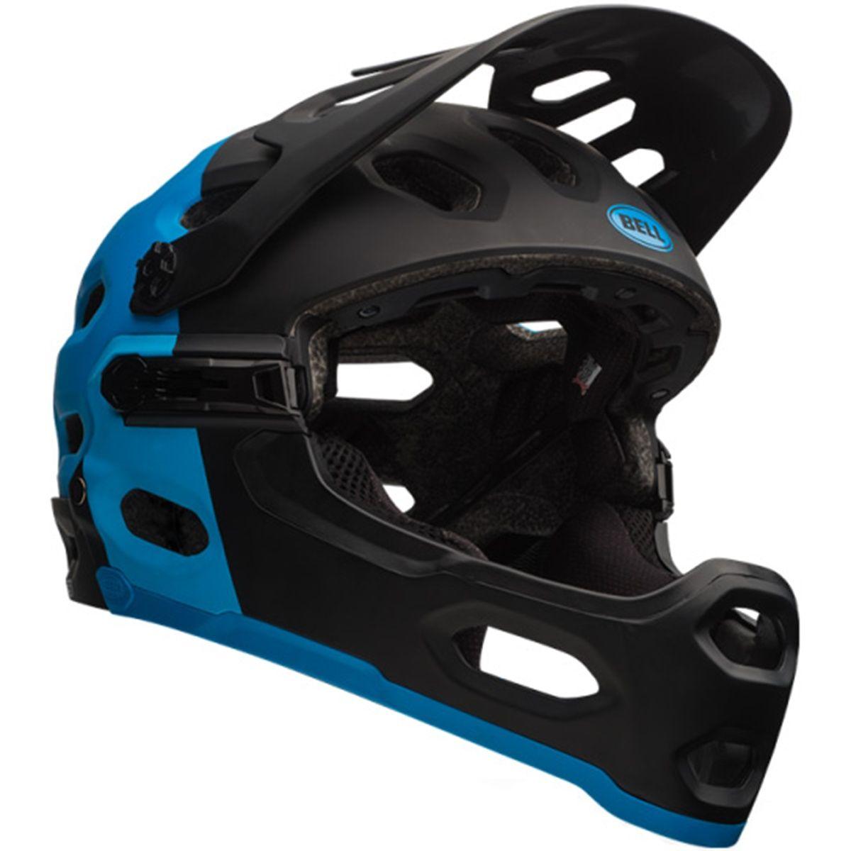 casco bell super 2r mips 2016 equipped matte black blue. Black Bedroom Furniture Sets. Home Design Ideas