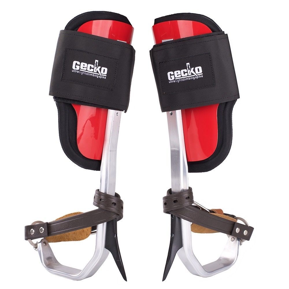 Lightweight Aluminum Climbers With Comfortable Padded Fiberglass Cuffs And Velcro Straps Gecko Velcro Straps Straps