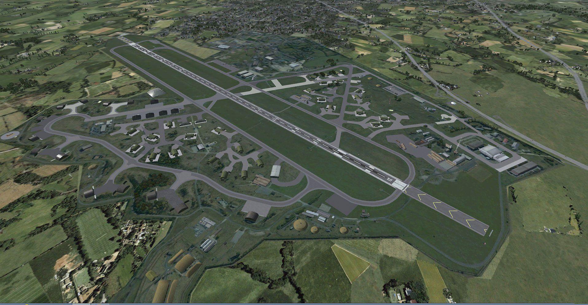 RAF Alconbury Scenery for FSX/P3D | Eng= Little Stukeley