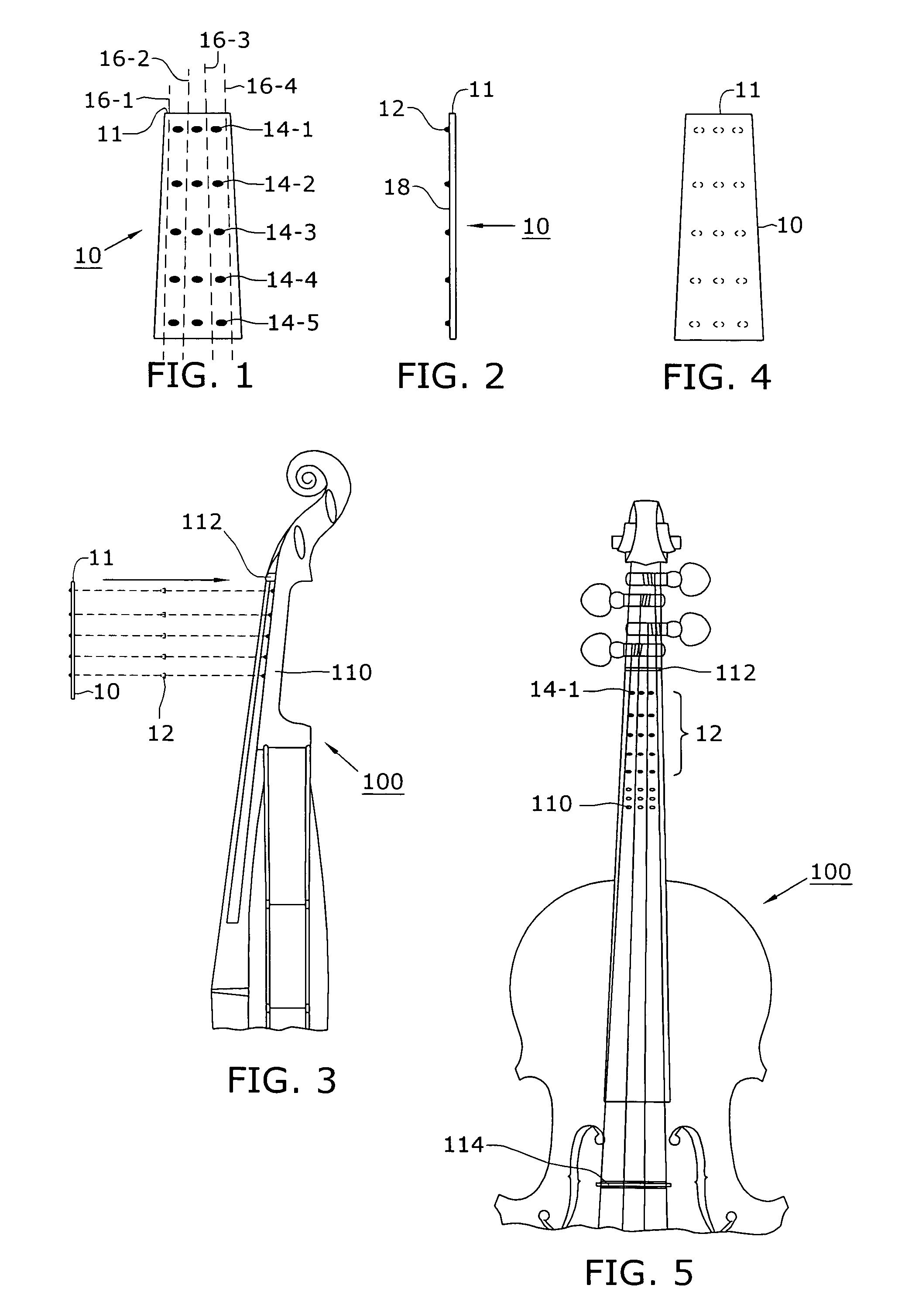 diagram of the parts of a violin and bow