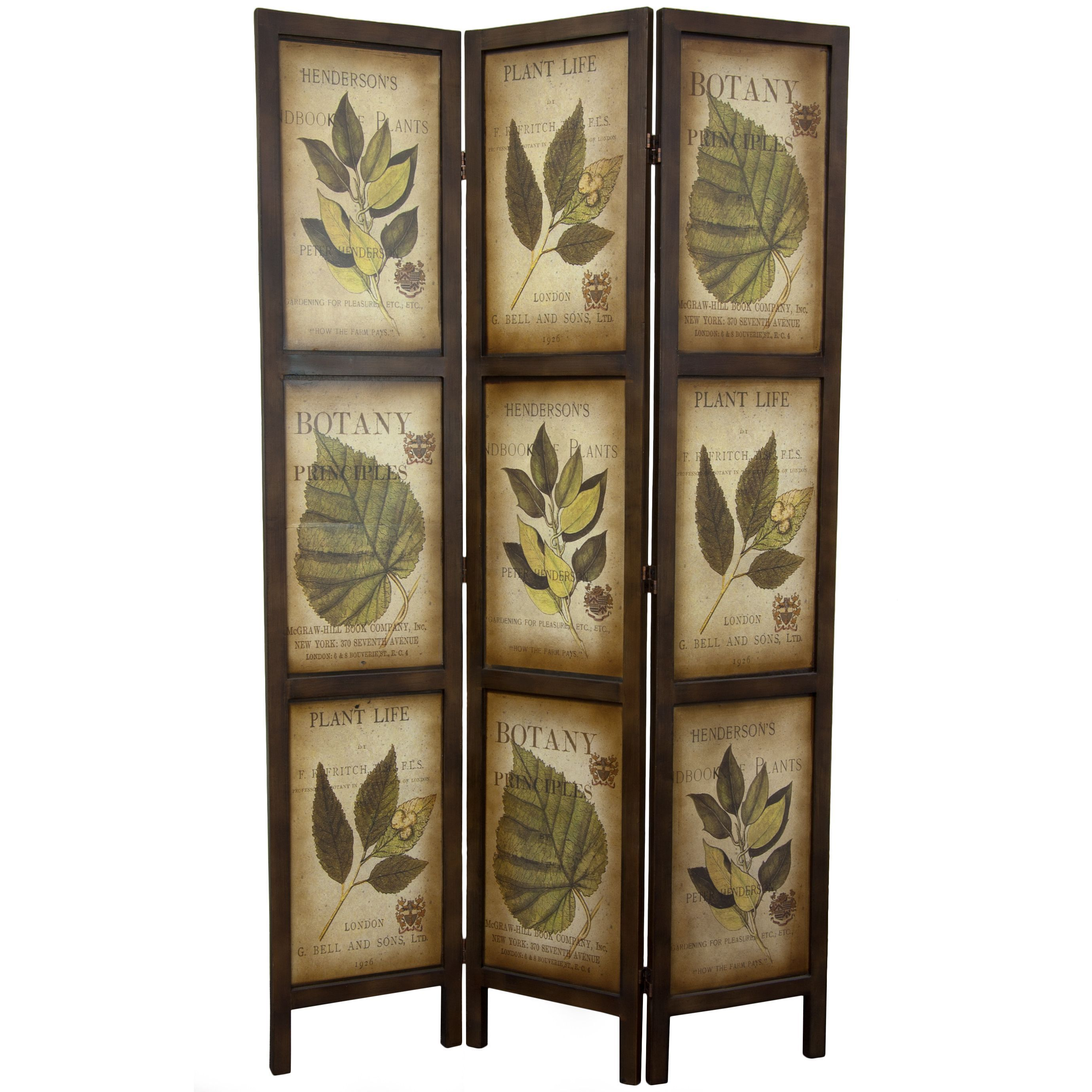 ft double sided botanic printed wood room divider free shipping