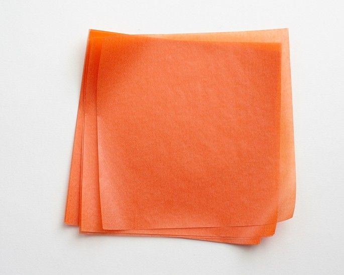 Orange Wax Paper Sheets Cakegirls Wax Paper Paper Sheet Sets