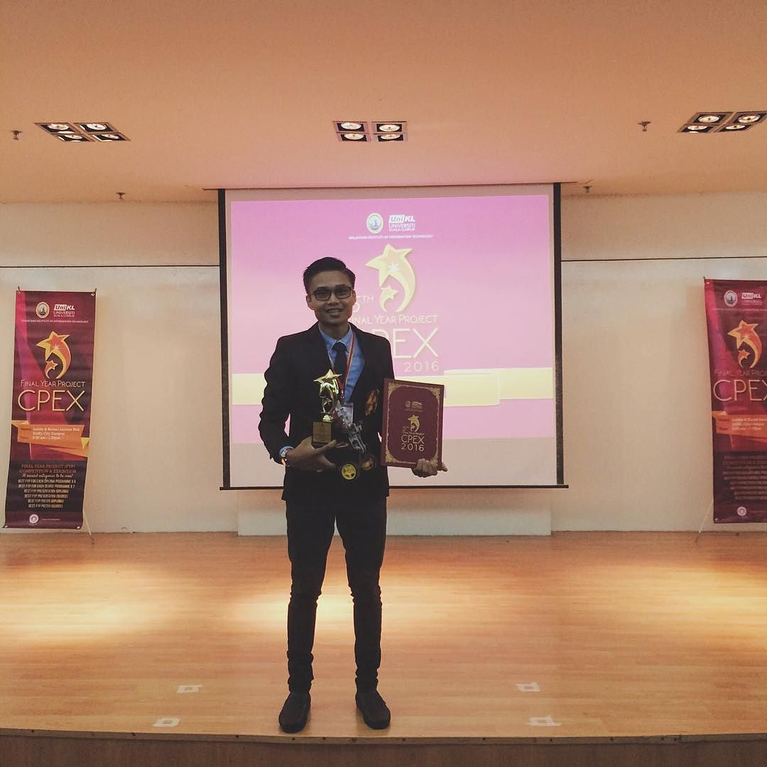 Alhamdulillah for this achievement in the best final year project competition (Computer Engineering) by CPEX UNIKL. Thanks to my beloved family lectures and friends for the support and help me getting this far! This is for you grandma Fatimah. Al-fatihah. Hoping you see this.  by iimlan