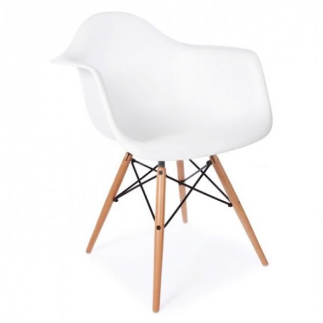 Chaise design daw blanche for Chaise eames rose pale