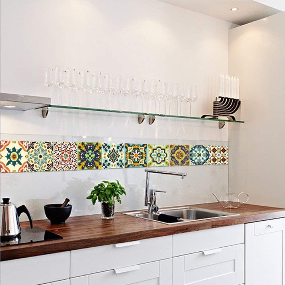Piastrelle Per Parete Cucina extsud adesivi per piastrelle stile mediterraneo wall