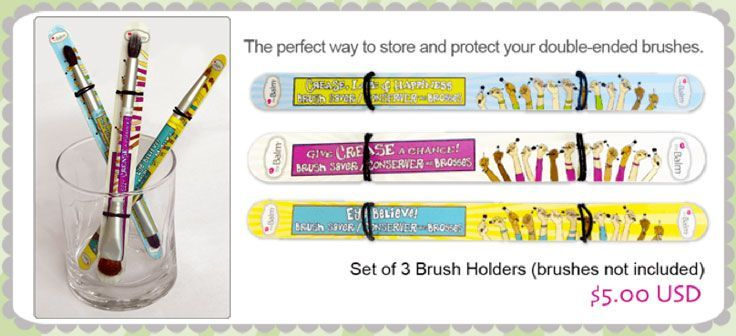 theBalm double ended brush holders. I need these in my life!!!