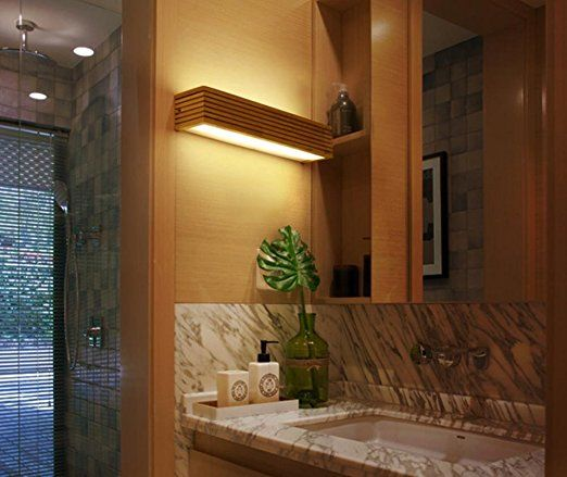 Meiwei lampada da paretesolido legno parete lampada led scala corridoio camera da letto bagno - Lampade da bagno a parete ...