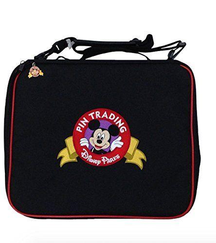 Disney Parks Mickey Mouse Black Pin Trading Trader Bag NEW