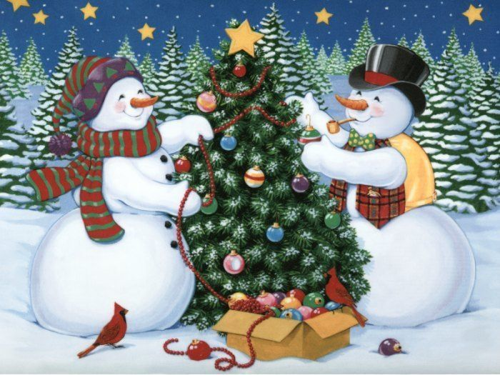 Painting by Michael Humphries; Frosty the Snowman music by the ...