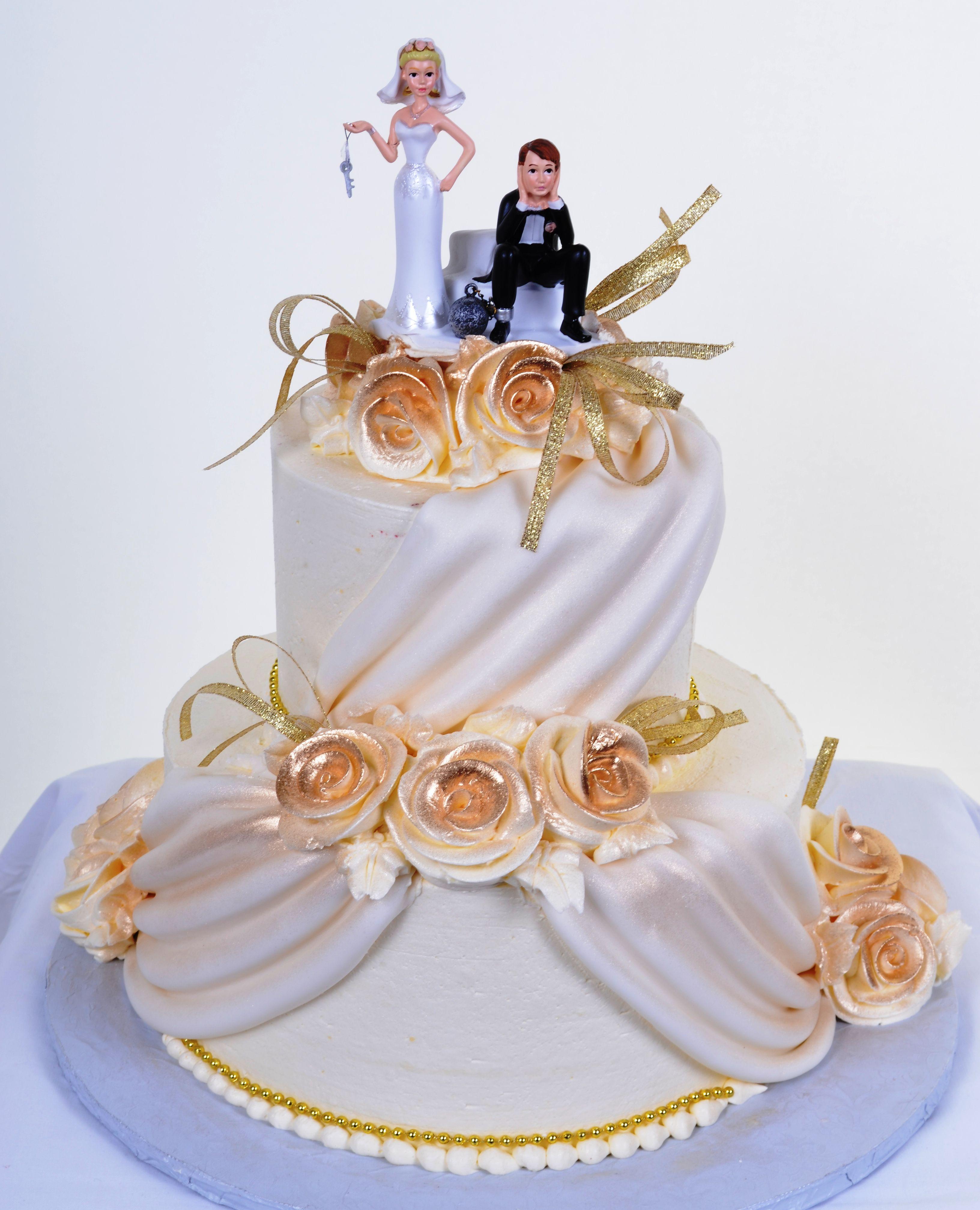Wedding Cakes with Fondant Swags Tortas hermosas, Tortas