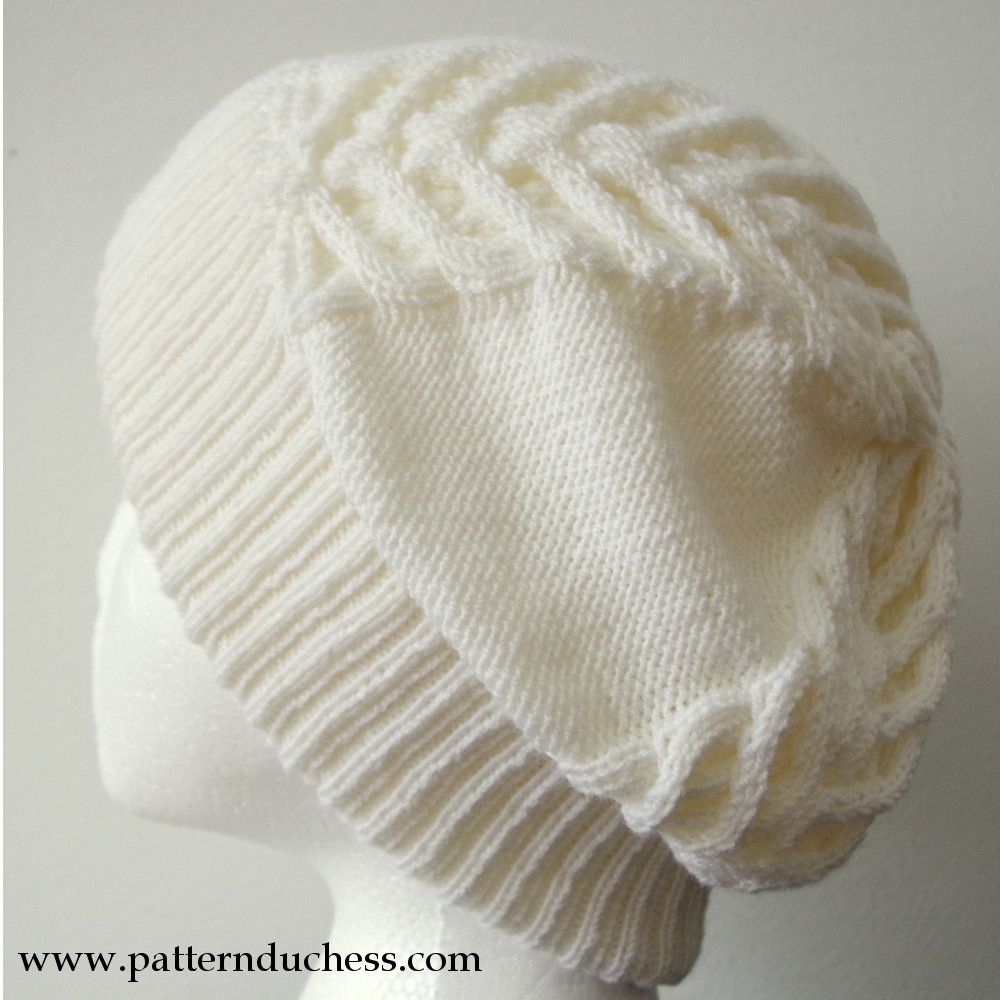 Pattern Duchess: Cable knit slouchy beanie hat free pattern (with ...