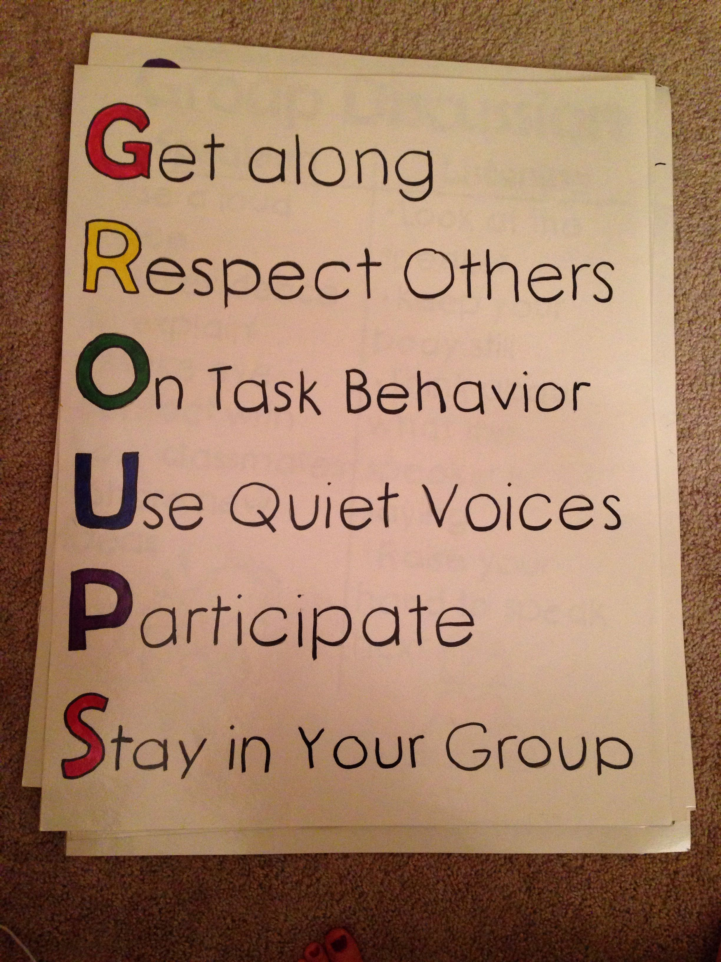 Expectations for group work poster and anchor chart | Anchor Charts ...