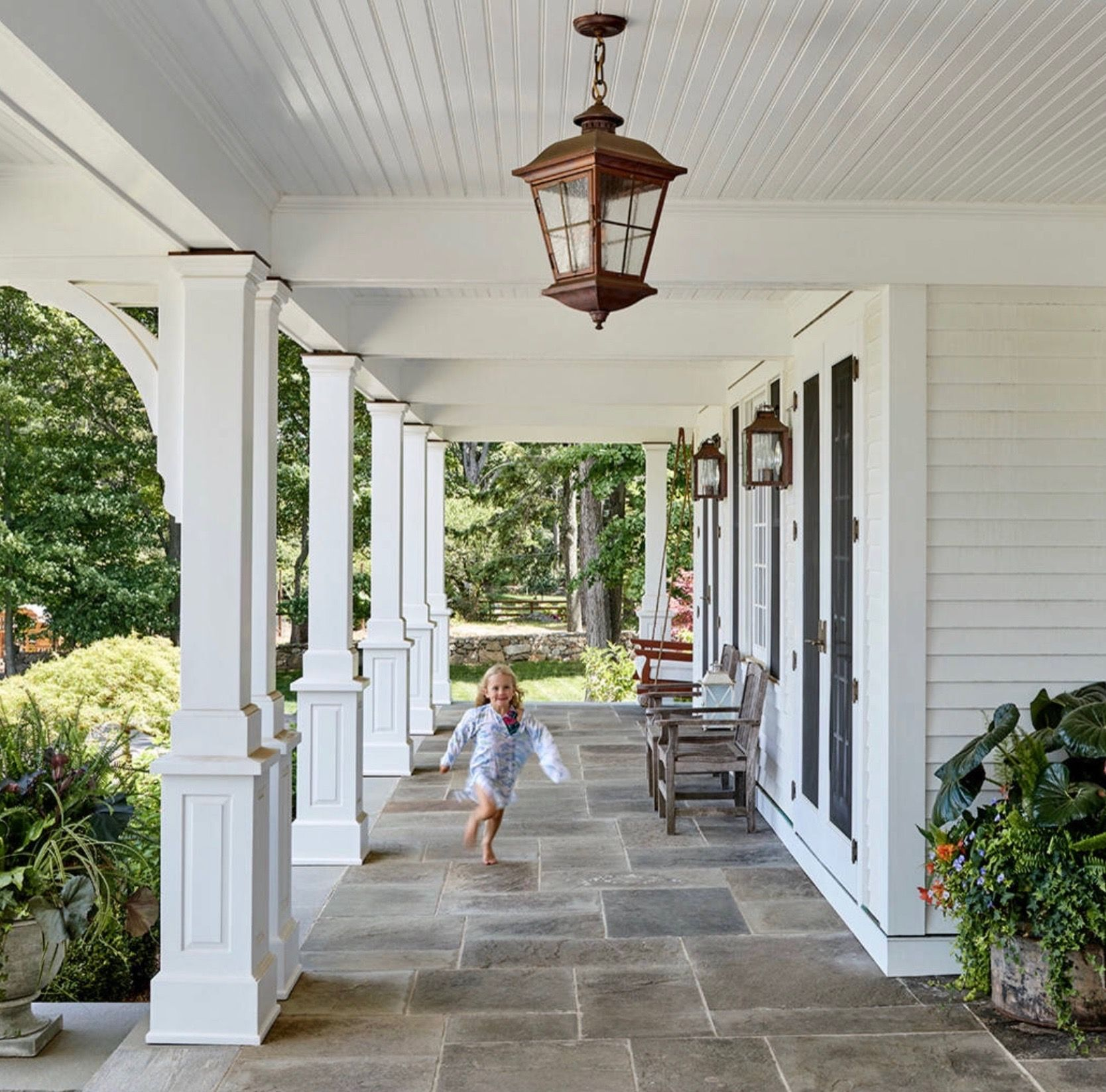 Pin By Misty Evans On Porches Patio House With Porch House Front Porch House Exterior