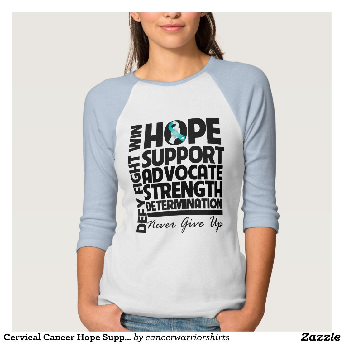 Cervical Cancer Hope Support Advocate Tshirts
