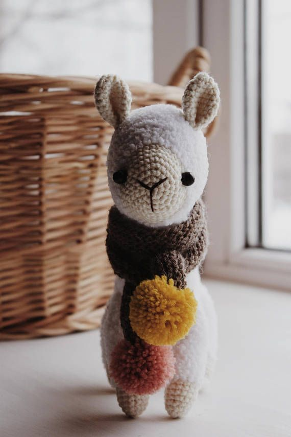Alpaca Crochet Pattern Llama Amigurumi Pattern Cuddle Toy Pinterest